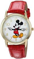 Disney Men's 'Mickey Mouse' Quartz Metal Casual Watch