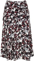 Veronica Beard Black Printed Silk Chiffon Skirt