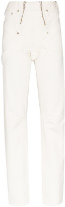 GmbH High-Waisted Zip Straight Leg Jeans