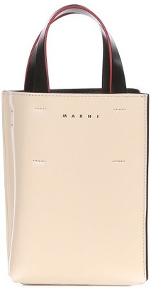 Marni Museo Nano Leather Cross-body Bag - Ivory Multi