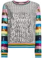 Mary Katrantzou Magpie Sequin Embellished Top