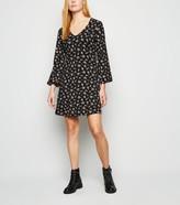 New Look Floral Puff Sleeve Mini Dress