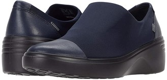 Ecco Soft 7 Wedge GTX Slip-On (Night Sky/Night Sky Cow Leather/Textile) Women's Shoes