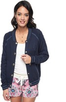 Juicy Couture Embroidered Varsity Sweater Jacket
