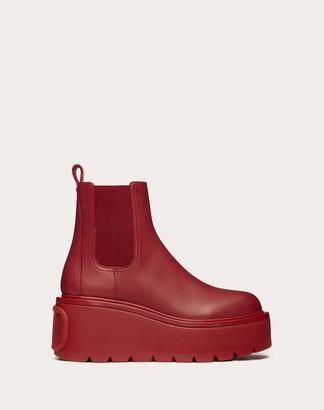 Valentino Uniqueform Vlovetn Ankle Boot Women Rosso 100% Pelle Di Vitello - Bos Taurus 36