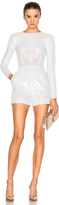 Zuhair Murad Long Sleeve Embroidered Romper