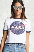 Forever 21 FOREVER 21+ NASA Graphic Ringer Tee