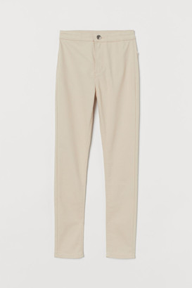 H&M Twill trousers High Waist