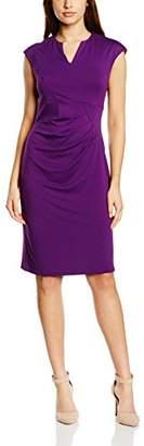 Hot Squash Women's Kensington V Cut Body Con Plain Sleeveless Dress