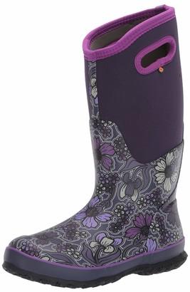 Bogs Women's Classic Tall May Flower Waterproof Rain Boot