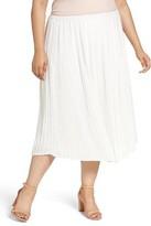 Vince Camuto Plus Size Women's Plisse Midi Skirt