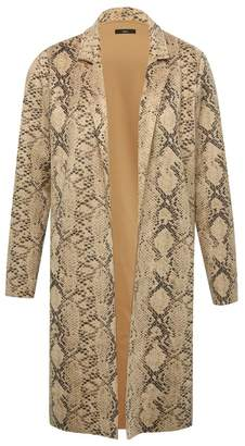M&Co Snake print faux suede coat