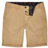 River Island MensTan slim fit chino shorts