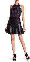 Nicole Miller Genuine Lambskin Leather Skirt