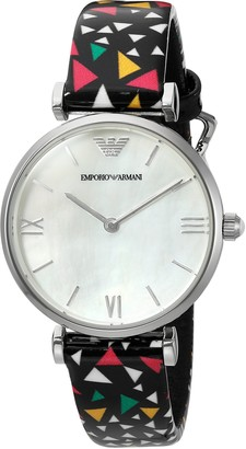 Emporio Armani Women's AR1995 Fashion Multi Leather Quartz Watch
