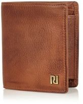River Island MensBrown leather three fold wallet