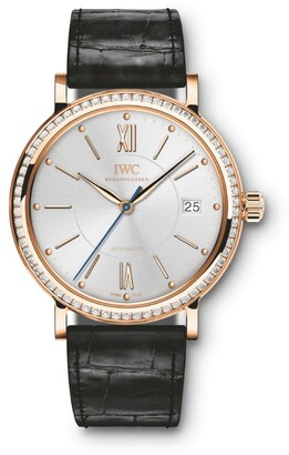 IWC SCHAFFHAUSEN Rose Gold and Diamond Portofino Automatic Watch 37mm