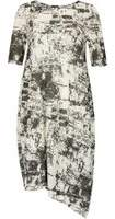 Dorothy Perkins Womens *Izabel London Monochrome Abstract Print Midi Dress- Black