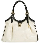 Brahmin 'Tri-Texture - Elisa' Leather Shoulder Bag - Ivory