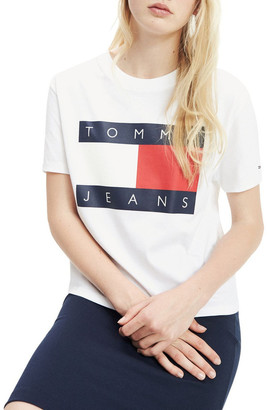 Tommy Jeans Cropped Fit Flag T-Shirt
