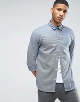 Selected Long Sleeve Slim Fit Shirt in Textured Fabric