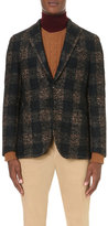 Boglioli Single-breasted Large Check Wool-blend Jacket