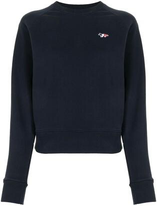 MAISON KITSUNÉ Cotton Logo-Embroidered Sweatshirt
