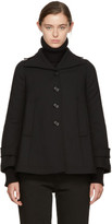 MM6 MAISON MARGIELA Black Wool Swing Coat
