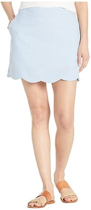 Vineyard Vines Seersucker Scallop Skort (Cornflower) Women's Skort