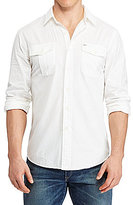 Polo Ralph Lauren Big & Tall Classic-Fit Beach Solid Twill Long-Sleeve Woven Shirt