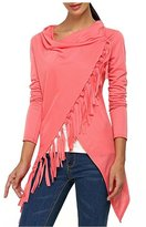 AuntTaylor Womens Chic Soft Hi-Low Irregular Hem Poncho Cover Up Tops S