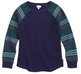 Splendid Boy's Stripe Sleeve Thermal T-Shirt