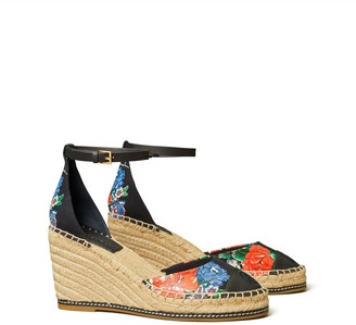 Tory Burch Color Block 85mm Wedge Espadrille