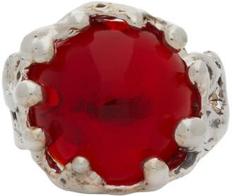 MONDO MONDO Silver and Red Magician Ring