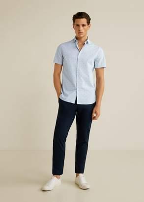 MANGO Regular fit contrasting print shirt