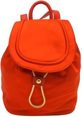 Diane von Furstenberg Orange Cloth Backpacks