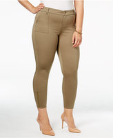 Celebrity Pink Body Sculpt by Trendy Plus Size The Slimmer Ankle-Zip Skinny Jeans