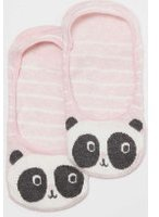 Dorothy Perkins Womens Pink Panda Footsie Socks- Pink