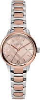 Burberry 32mm Classic Two-Tone Bracelet Watch, Rose Gold/Silver