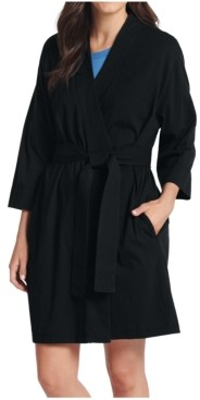 Jockey Women's Short Cotton Wrap Robe