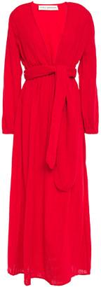 Mara Hoffman Belted Cotton-gauze Maxi Dress
