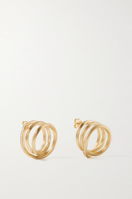 COMPLETEDWORKS Swirl Gold-plated Topaz Earrings - one size