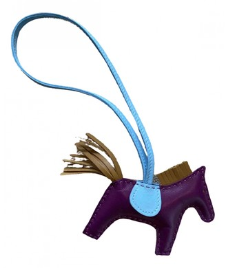 Hermes Rodeo Purple Leather Bag charms