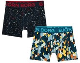 Bjorn Borg Pack of 2 Speckled and Winter Camo Branded Trunks