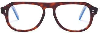 Cutler And Gross - Aviator Acetate Glasses - Mens - Tortoiseshell