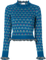 RED Valentino floral jumper - women - Acrylic/Wool/Virgin Wool - XS