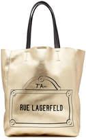 Karl Lagerfeld Printed Metallic Leather Tote