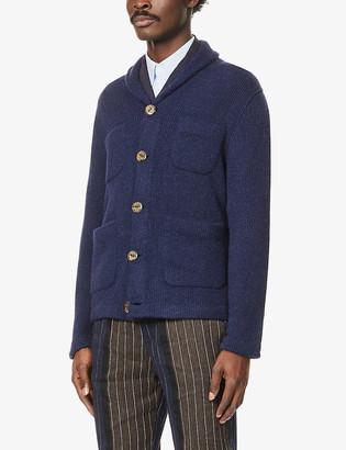 The Inoue Brothers Shawl-collar patch-pocket alpaca jacket