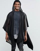 Asos Mesh Cape In Black