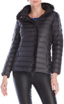 Cole Haan Faux Fur Trim Hooded Down Jacket